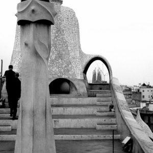 Casa Mila w Barcelonie by Wojtek