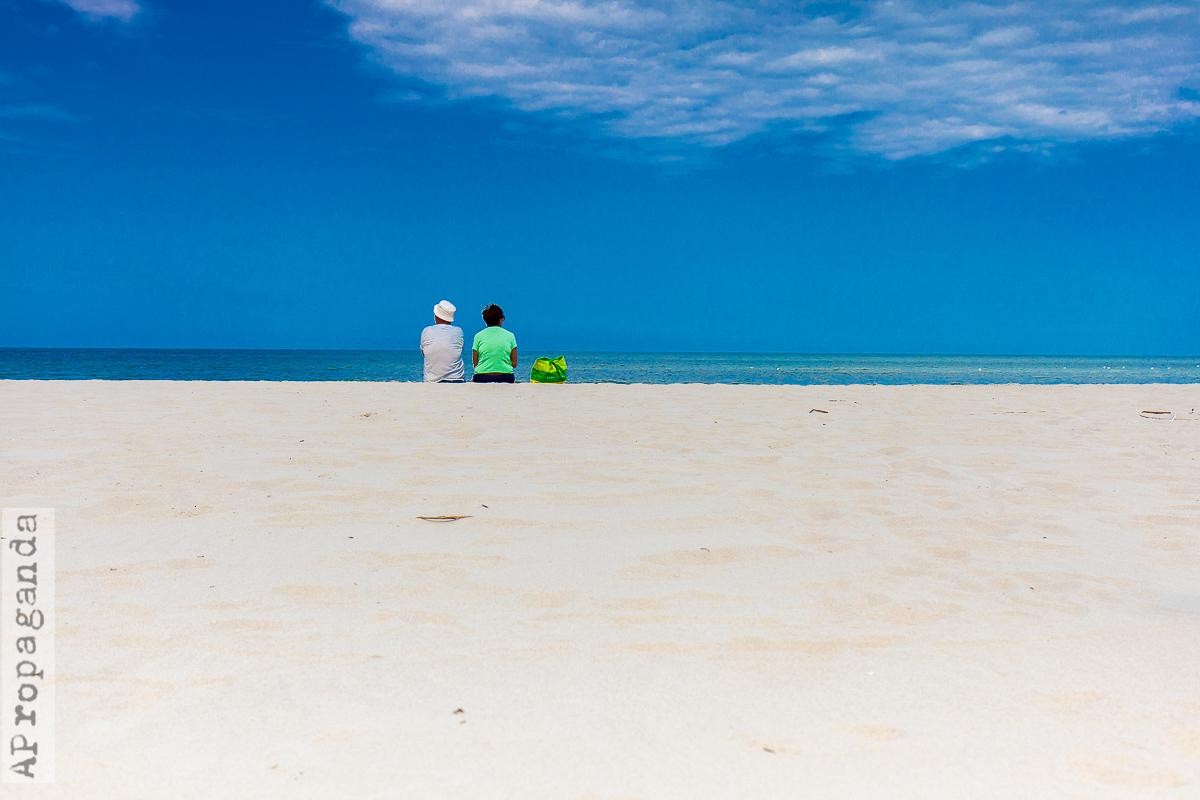 Ona i on nad brzegiem Bałtyku, fotografia by Ola