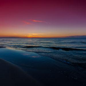Różowy zachód słońca nad Bałtykiem, fotografia by Ola